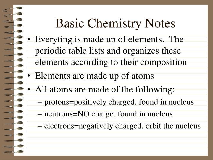 Basic Chemistry Notes