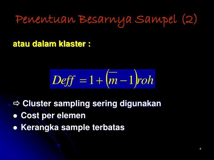 Penentuan Besarnya Sampel (2)