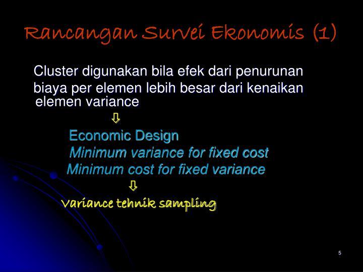 Rancangan Survei Ekonomis (1)