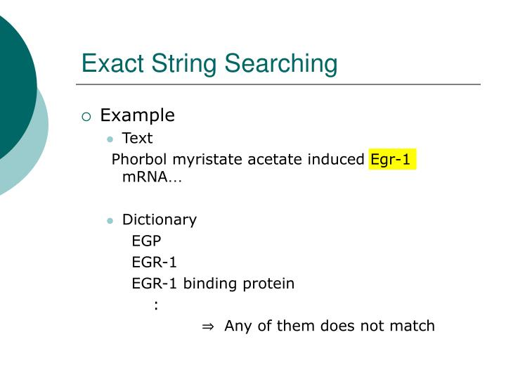 Exact String Searching