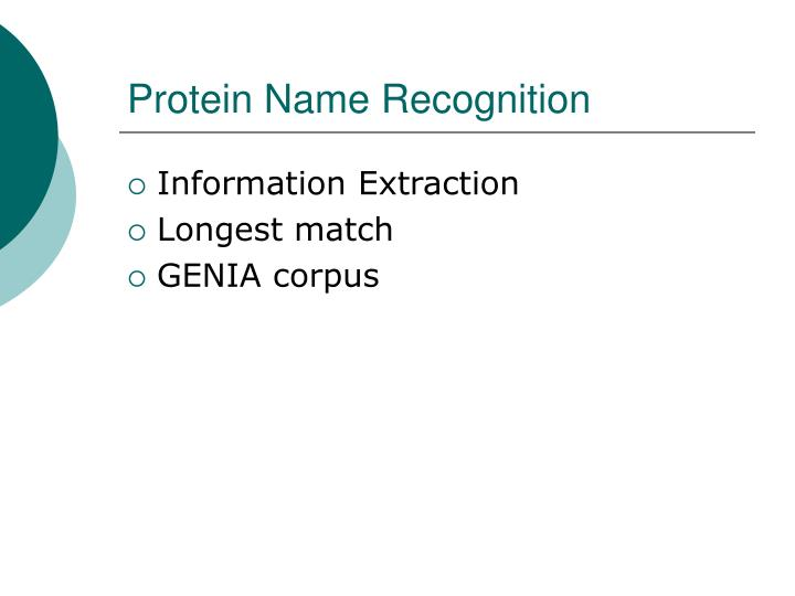 Protein Name Recognition