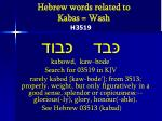 hebrew words related to kabas wash