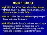 mark 13 32 34