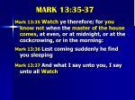 mark 13 35 37
