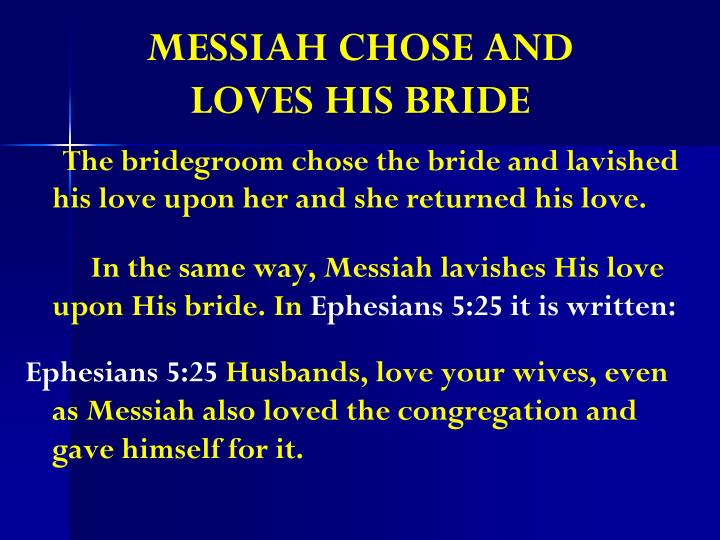 MESSIAH CHOSE AND