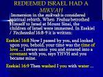 redeemed israel had a mikvah