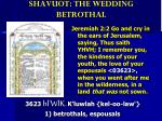 shavuot the wedding betrothal