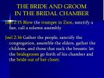 the bride and groom in the bridal chamber