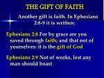 the gift of faith