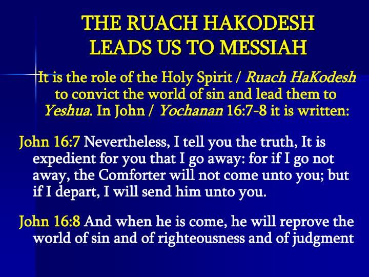 THE RUACH HAKODESH