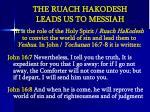 the ruach hakodesh leads us to messiah