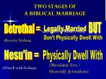 two stages of a biblical marriage1