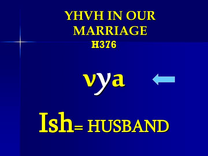 YHVH IN OUR MARRIAGE
