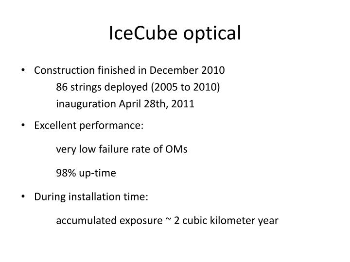 IceCube optical