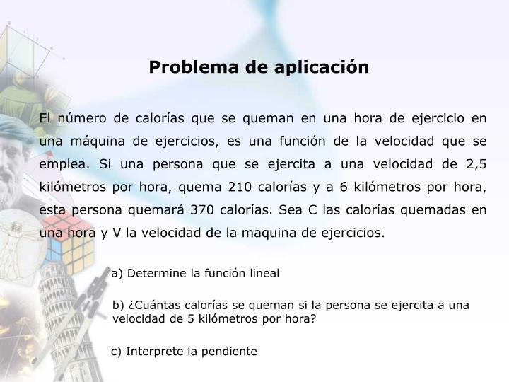 Problema de aplicación