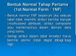 bentuk normal tahap pertama 1st normal form 1nf