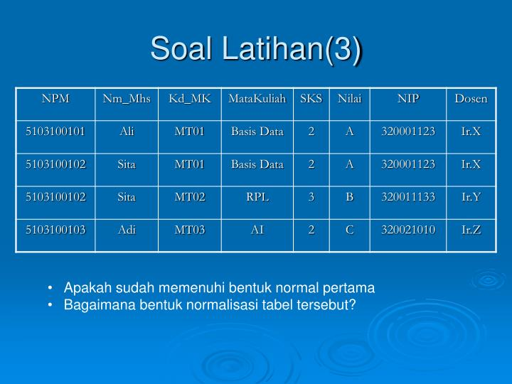 Soal Latihan(3)