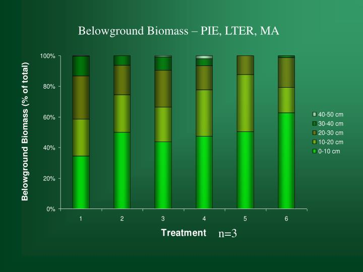 Belowground Biomass – PIE, LTER, MA