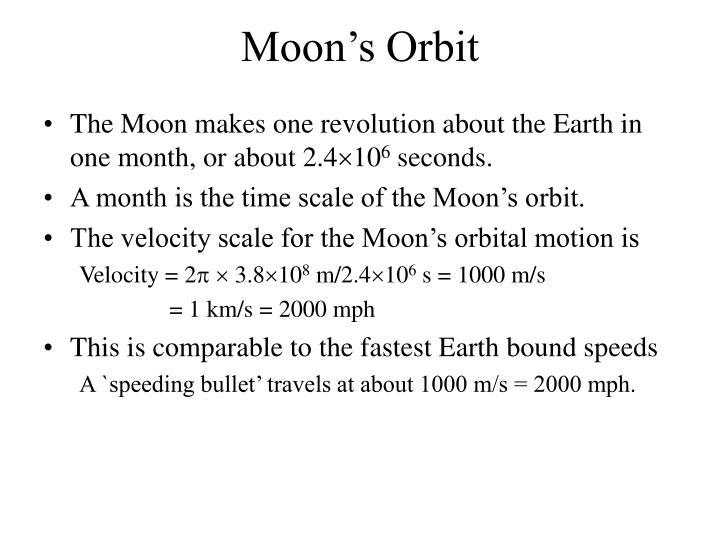 Moon's Orbit