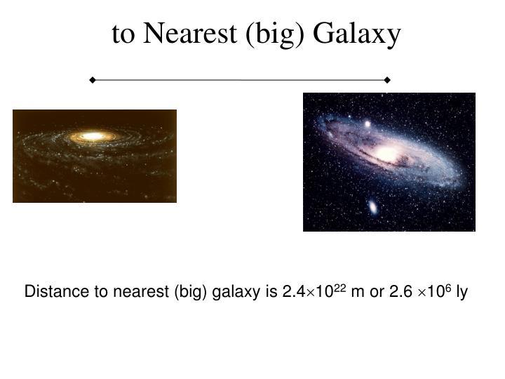 to Nearest (big) Galaxy