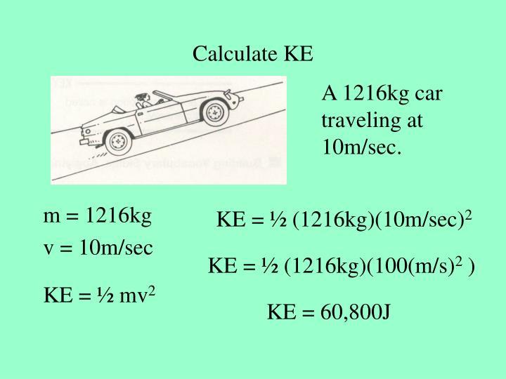 Calculate KE