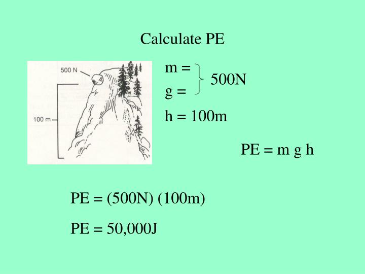Calculate PE