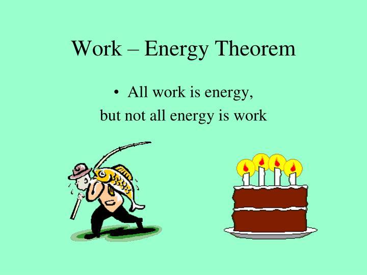 Work – Energy Theorem
