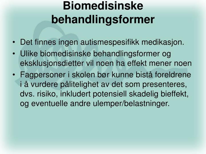 Biomedisinske behandlingsformer