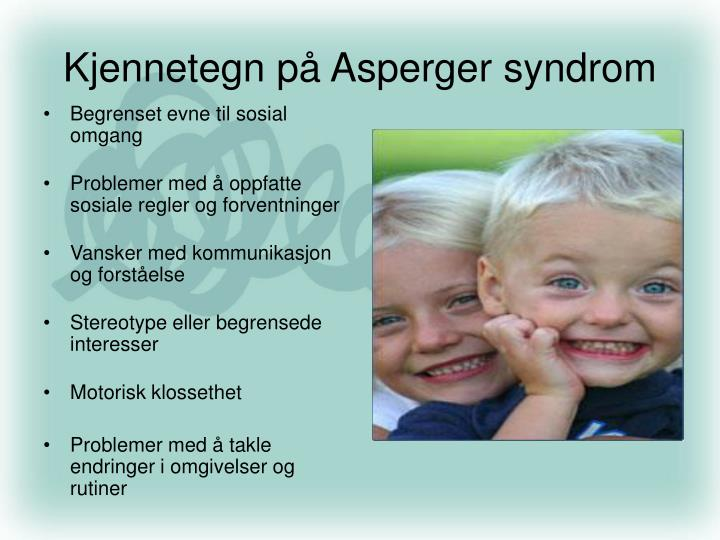 Kjennetegn på Asperger syndrom