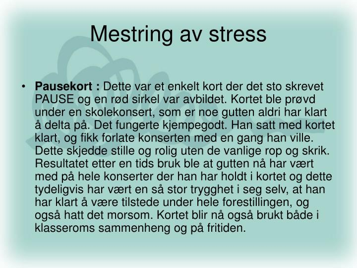 Mestring av stress