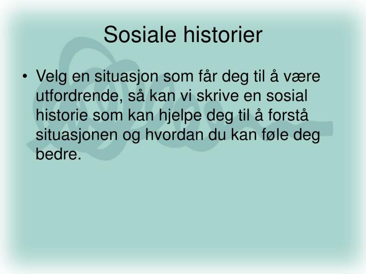 Sosiale historier