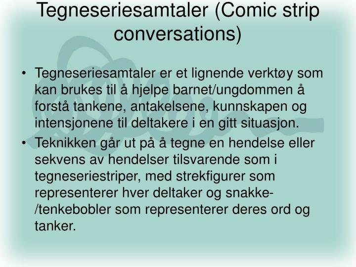 Tegneseriesamtaler (Comic strip conversations)