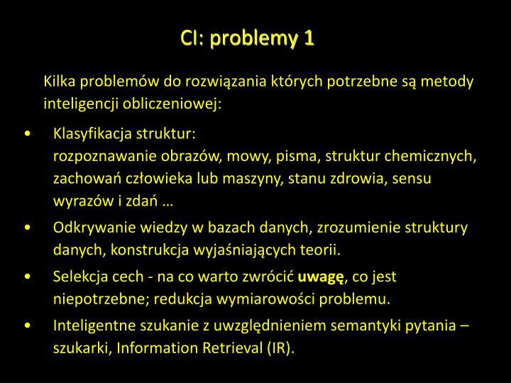 CI: problemy 1