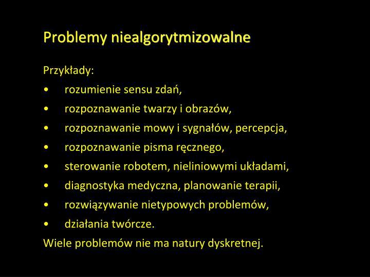 Problemy niealgorytmizowalne