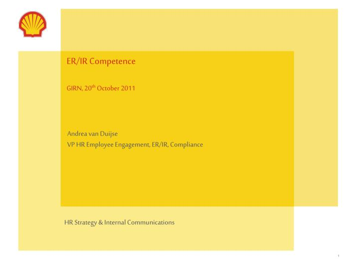 er ir competence girn 20 th october 2011