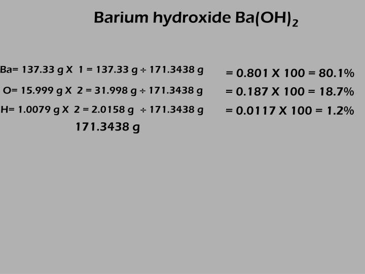 Barium hydroxide Ba(OH)
