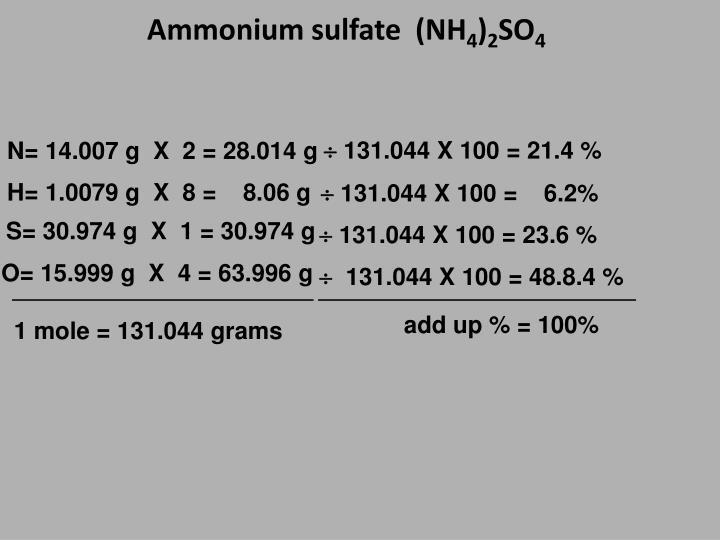 Ammonium sulfate  (NH