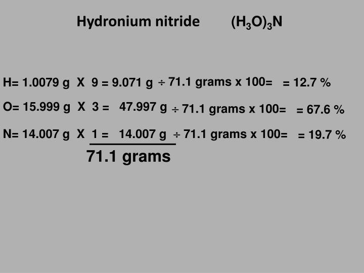 Hydronium nitride