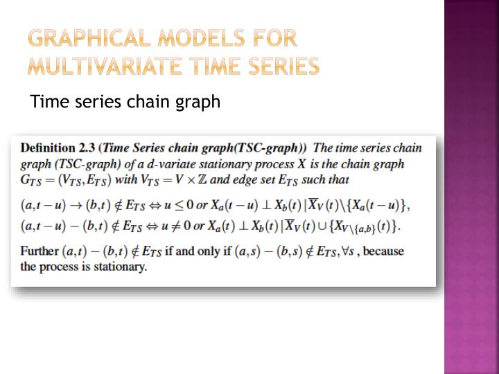 Graphical models for multivariate time series
