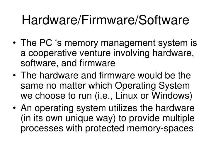 Hardware firmware software