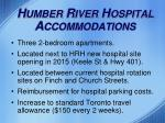 h umber r iver h ospital a ccommodations