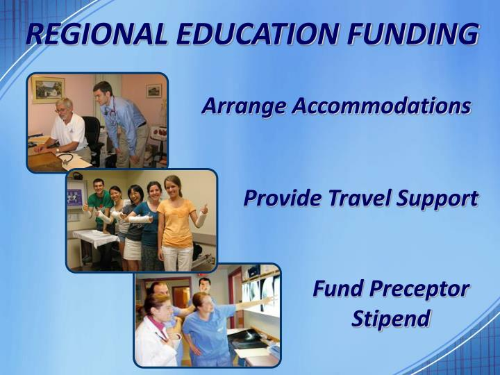 REGIONAL EDUCATION FUNDING