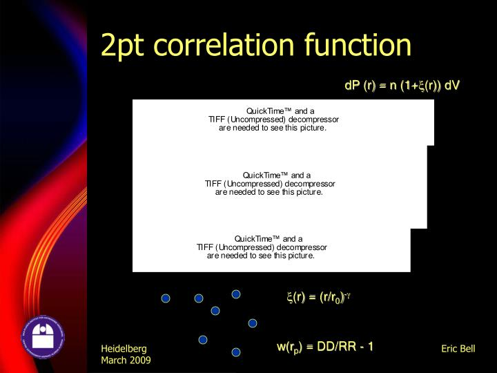 2pt correlation function