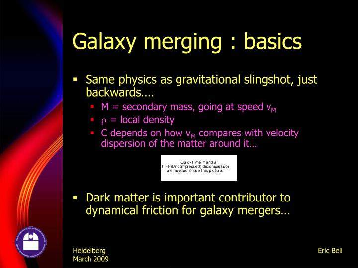 Galaxy merging basics