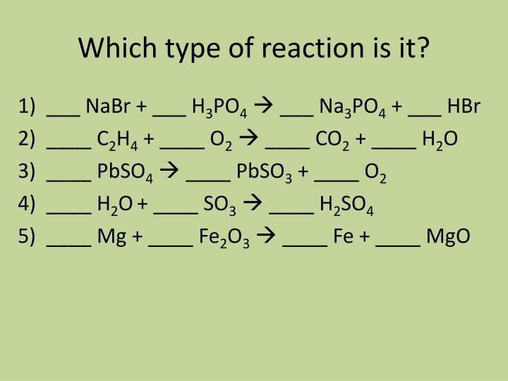 Which type of reaction is it