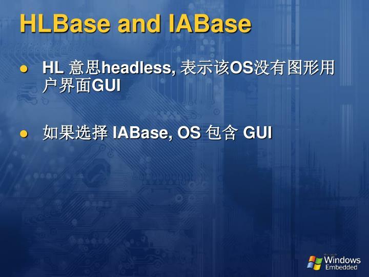 HLBase and IABase