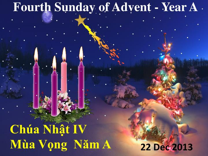 Fourth Sunday of Advent - Year