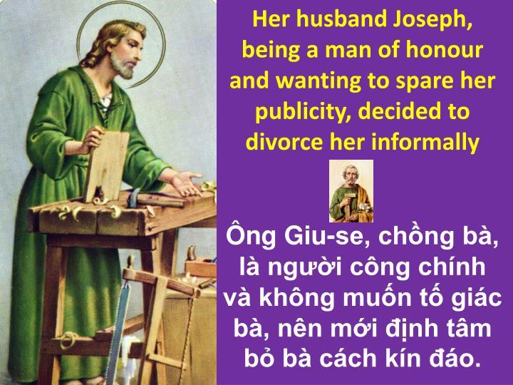 Her husband Joseph