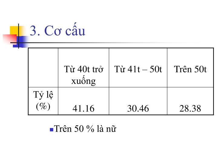3. Cơ cấu