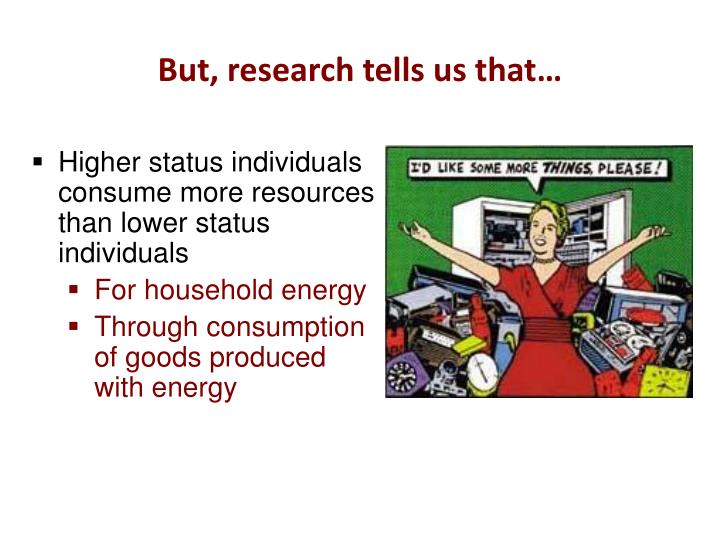 But, research tells us that…